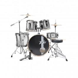 Peavey PV 5PC Drum Set Silver